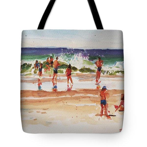 Beach Scene, Afternoon Tote Bag by Peter Salwen