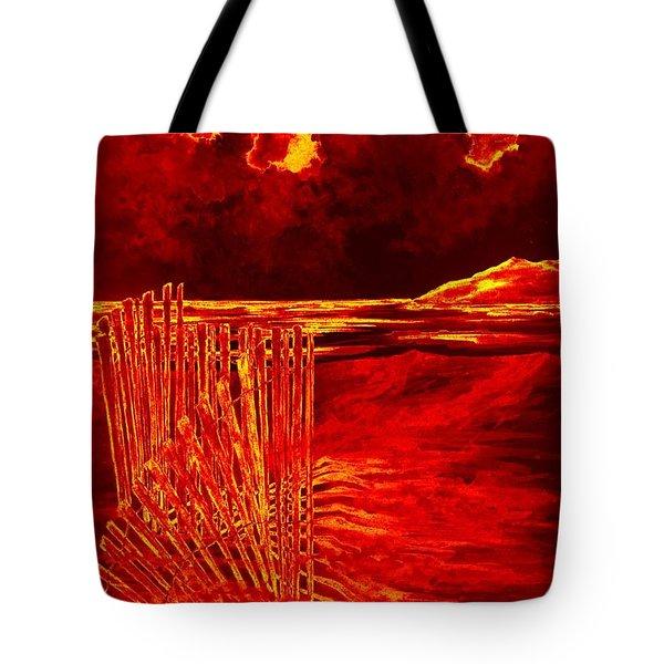 Beach Scene Tote Bag by Michael Vigliotti