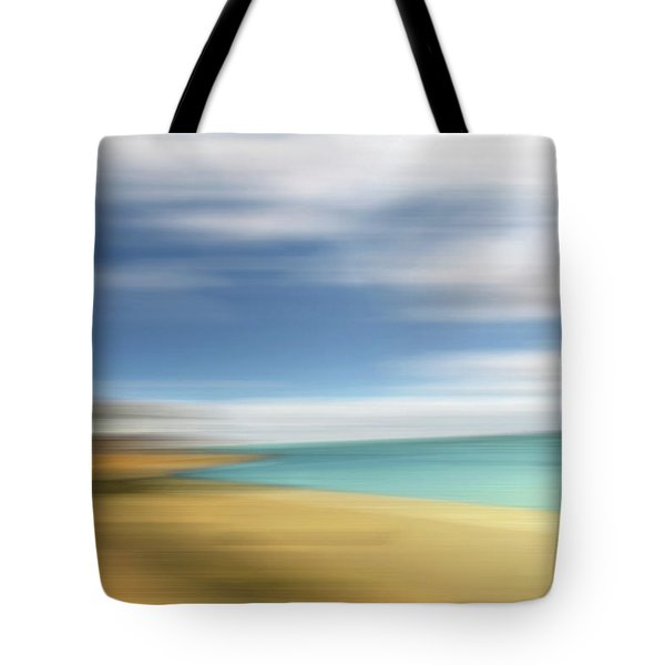 Beach Seascape Abstract Tote Bag by Gill Billington