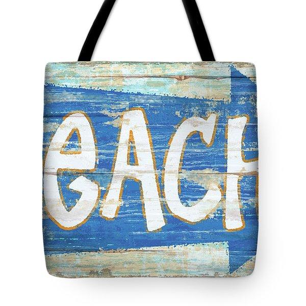 Beach Sign Tote Bag
