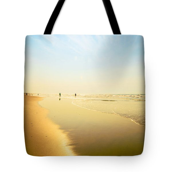 Beach Silhouettes 2 Tote Bag by John Harding