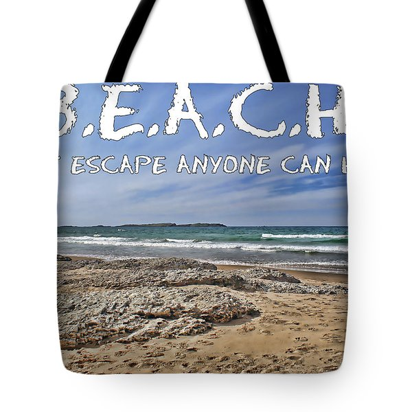 Tote Bag featuring the photograph B.e.a.c.h. by Colin Clarke