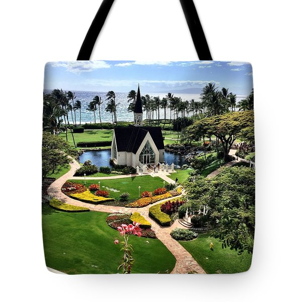 Beach Steeple Tote Bag by Michael Albright