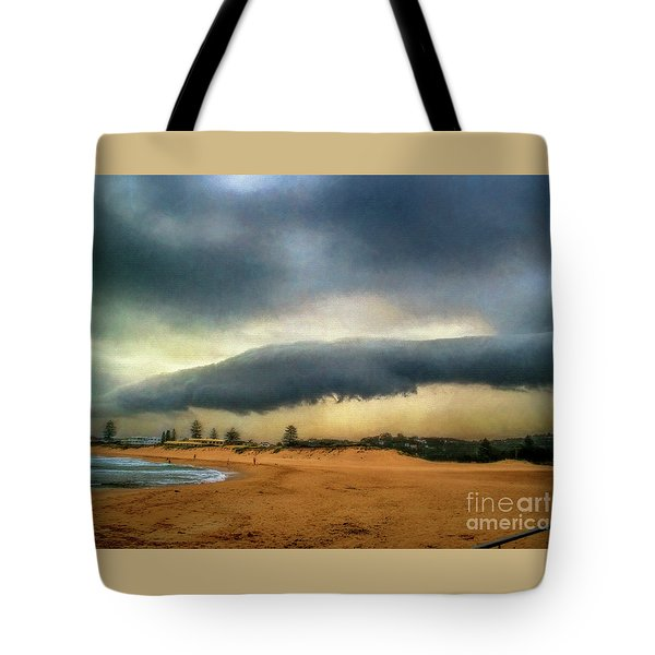 Tote Bag featuring the photograph Beach Storm At Sunset By Kaye Menner by Kaye Menner