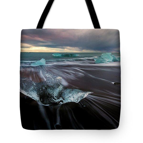 Beach Stranded Tote Bag by Allen Biedrzycki