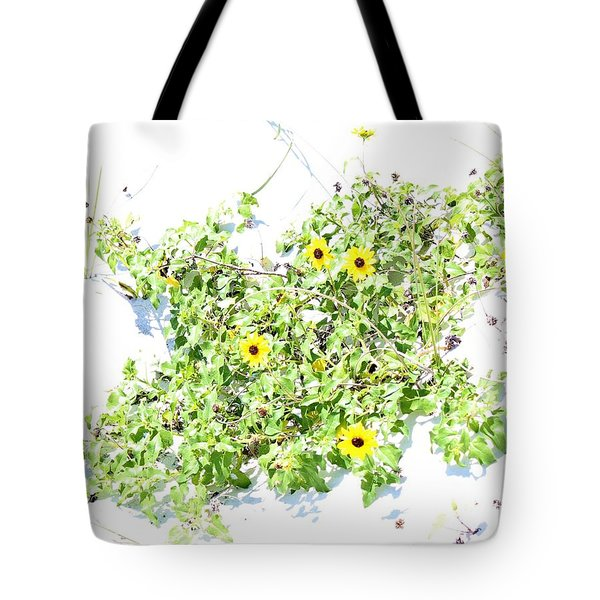 Beach Sun Flowers Tote Bag