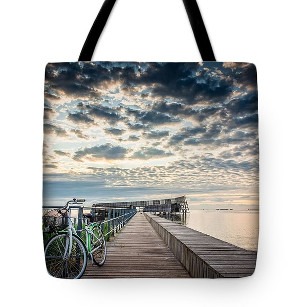 Tote Bag featuring the photograph Beach Sunrise II by Stefan Nielsen