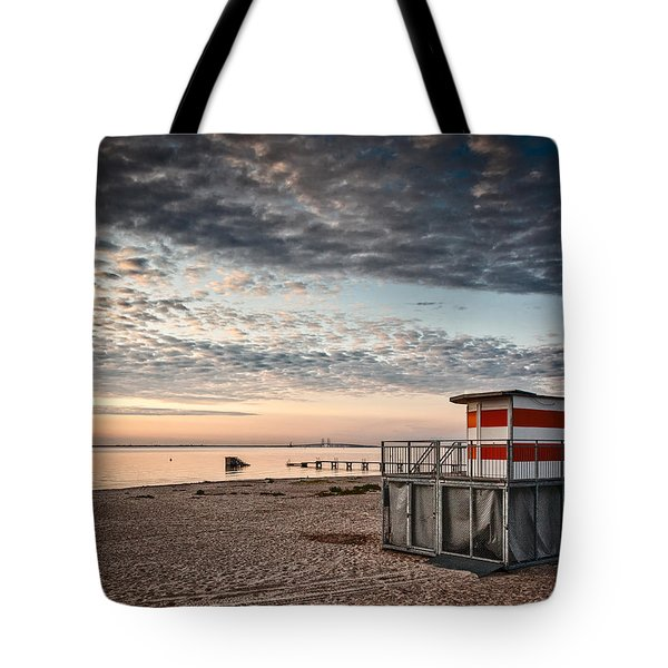 Beach Sunrise Iv Tote Bag