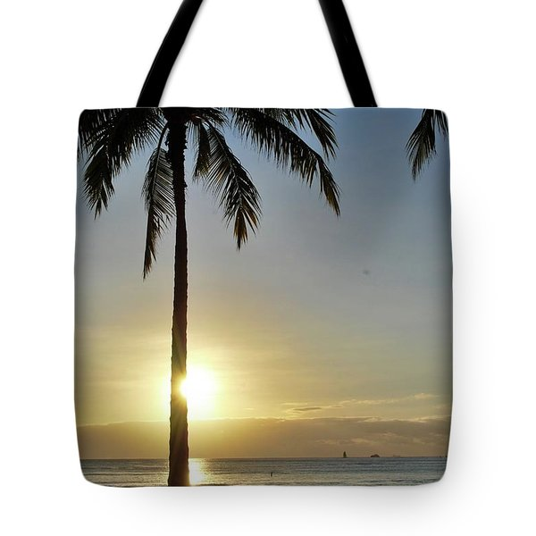 Tote Bag featuring the photograph Beach Sunset by Amee Cave