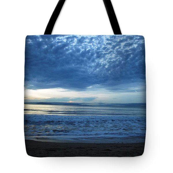 Beach Sunset - Blue Clouds Tote Bag