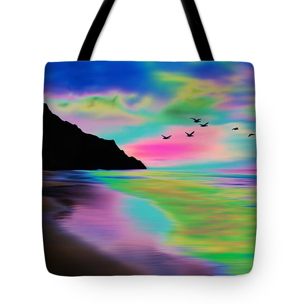 Beach Sunset Tote Bag