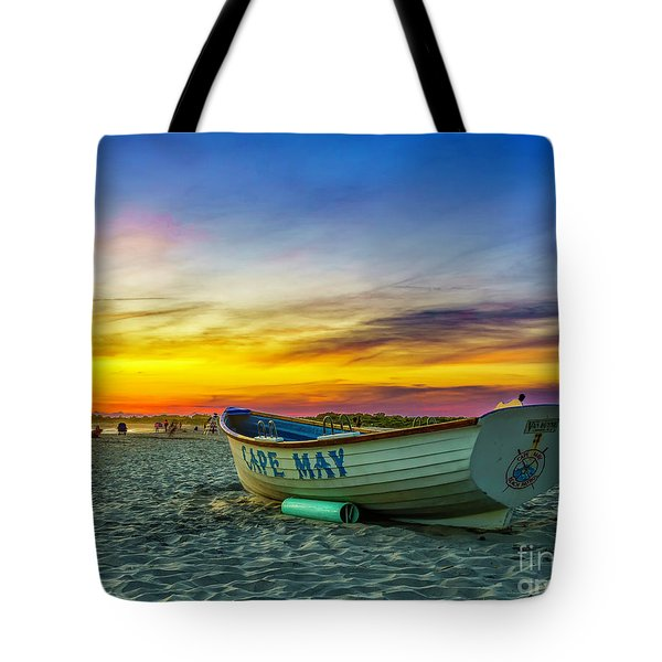 Beach Sunset In Cape May Tote Bag