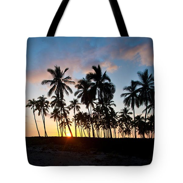 Beach Sunset Tote Bag by Mike Reid