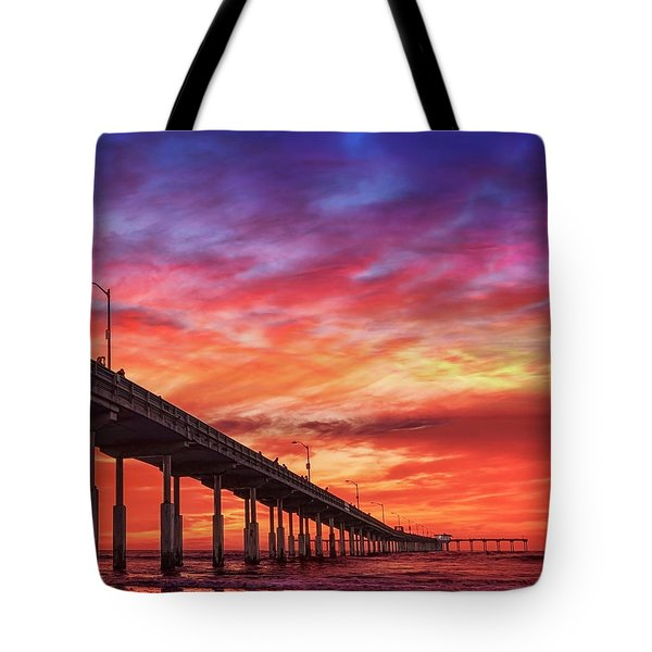 Beach Sunset Ocean Wall Art San Diego Artwork Tote Bag