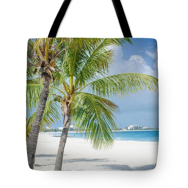 Beach Time In Turks And Caicos Tote Bag by Mike Ste Marie