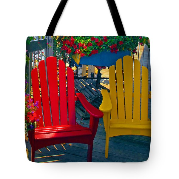 Beach Town Charm Tote Bag