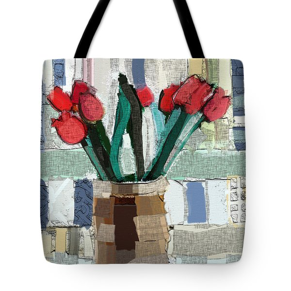 Beach Tulips Tote Bag