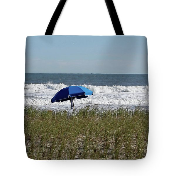 Tote Bag featuring the photograph Beach Umbrella by Denise Pohl