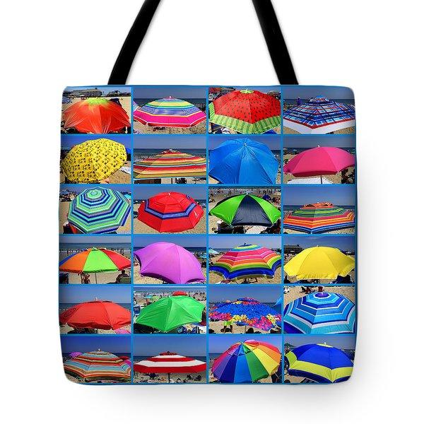Beach Umbrella Medley Tote Bag by Mitchell R Grosky