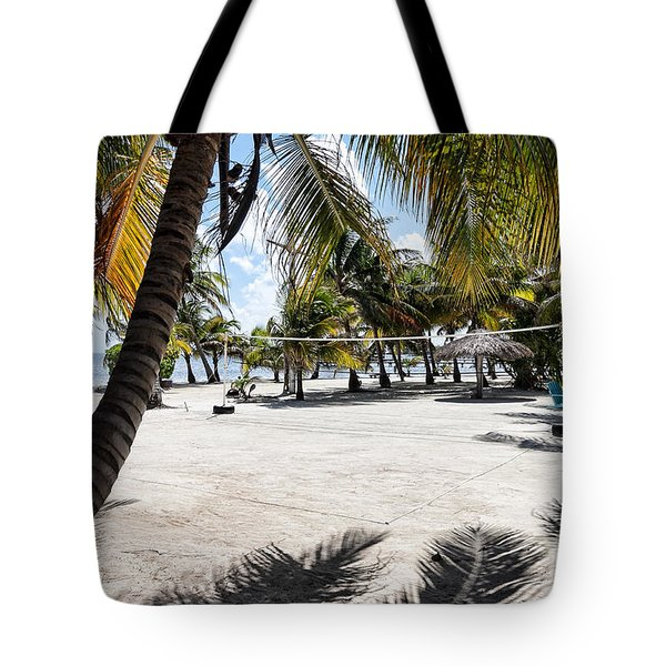 Beach Volleyball Court Tote Bag