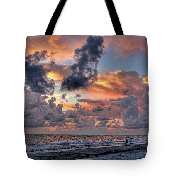 Beach Walk - Florida Seascape Tote Bag