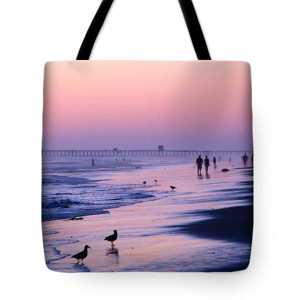 Beach Walk Tote Bag by Jan Cipolla