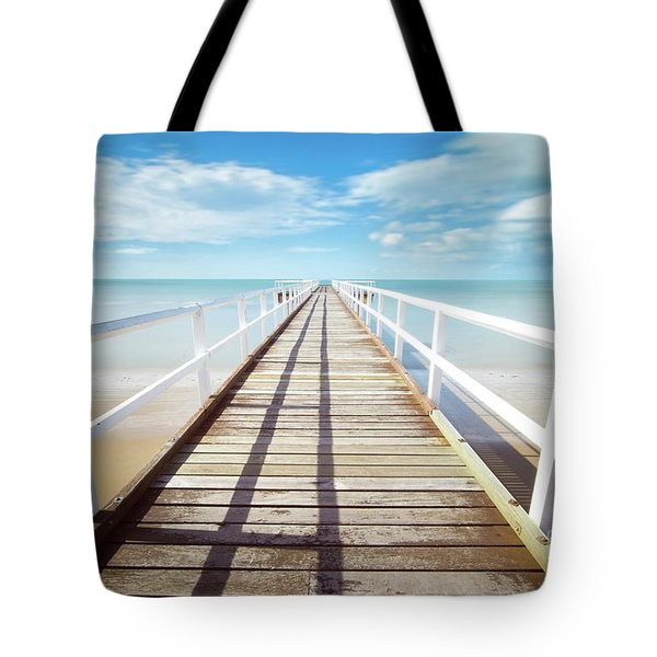 Tote Bag featuring the photograph Beach Walk by MGL Meiklejohn Graphics Licensing