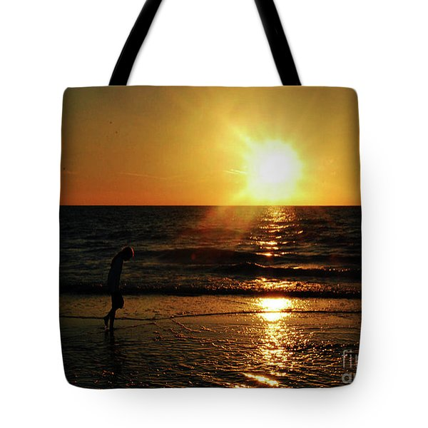 Beach Walking Tote Bag by Gary Wonning