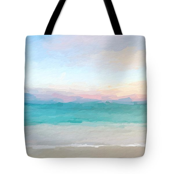 Beach Watercolor Sunrise Tote Bag