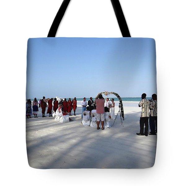 Beach Wedding In Kenya Tote Bag