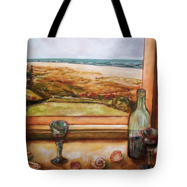 Beach Window Tote Bag by Winsome Gunning