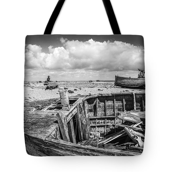 Beached Boats. Tote Bag
