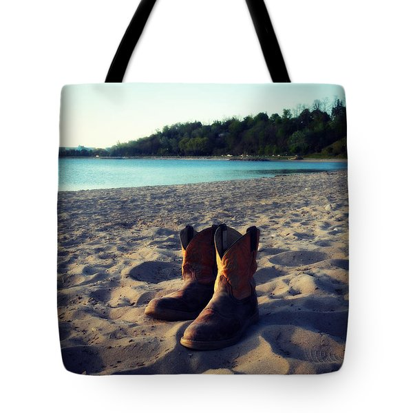 Beached Boots Tote Bag