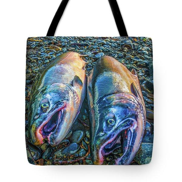 Beached Coho Tote Bag