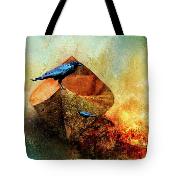 Beached Crow Tote Bag