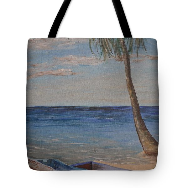 Tote Bag featuring the painting Beached by Debbie Baker
