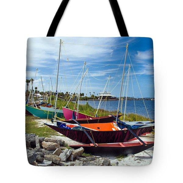 Beached In Sebastian Florida Tote Bag by Allan  Hughes