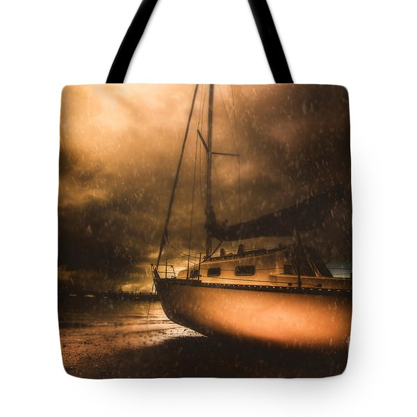 Tote Bag featuring the photograph Beached Sailing Boat by Jorgo Photography - Wall Art Gallery