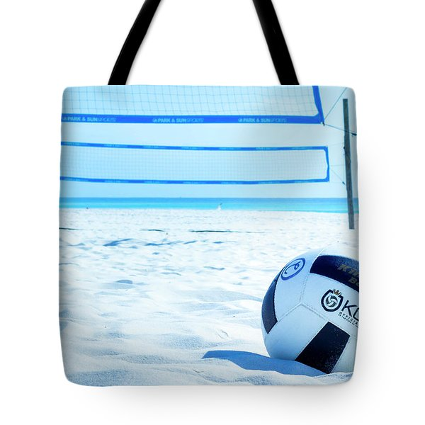 Volleyball On The Beach Tote Bag