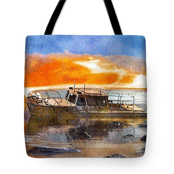 Beached Wreck Tote Bag