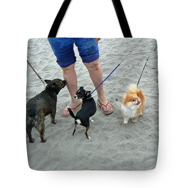 Beachen Toy Doggies Tote Bag by Pamela Patch