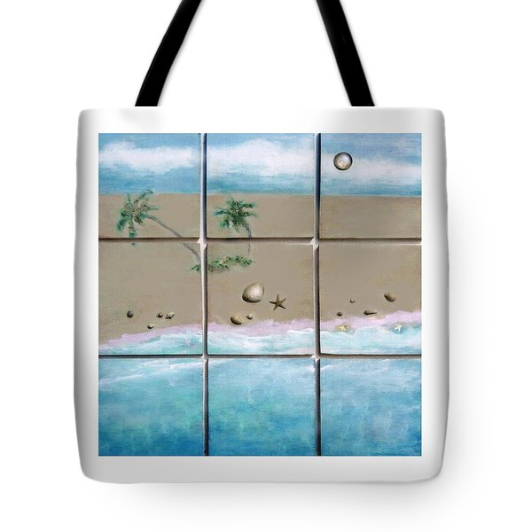 Beaches Cubed Tote Bag