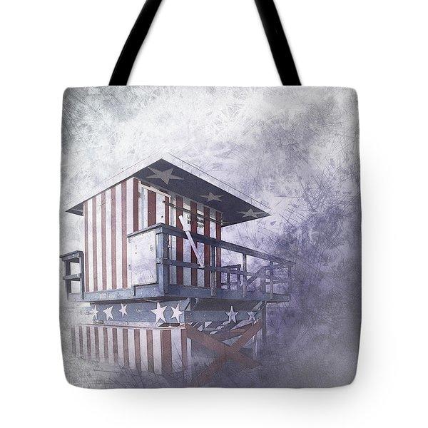 Beachlife In The Past Tote Bag by Melanie Viola