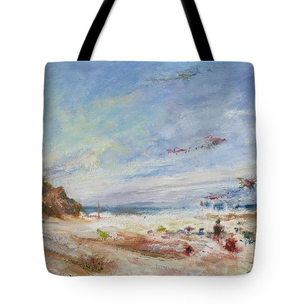 Beachy Day - Impressionist Painting - Original Contemporary Tote Bag