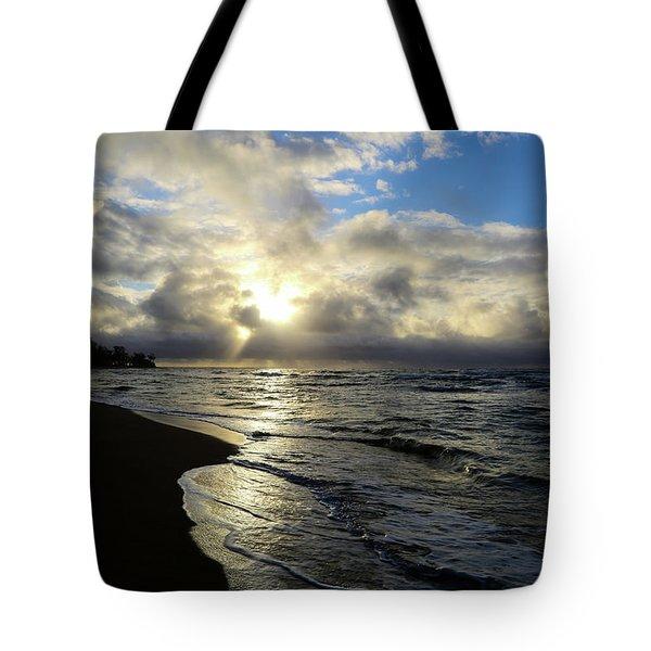 Beachy Morning Tote Bag