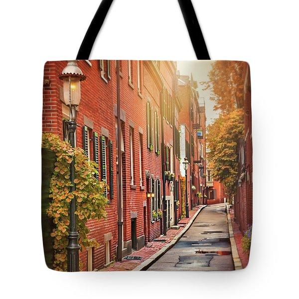 Beacon Hill Area Of Boston  Tote Bag