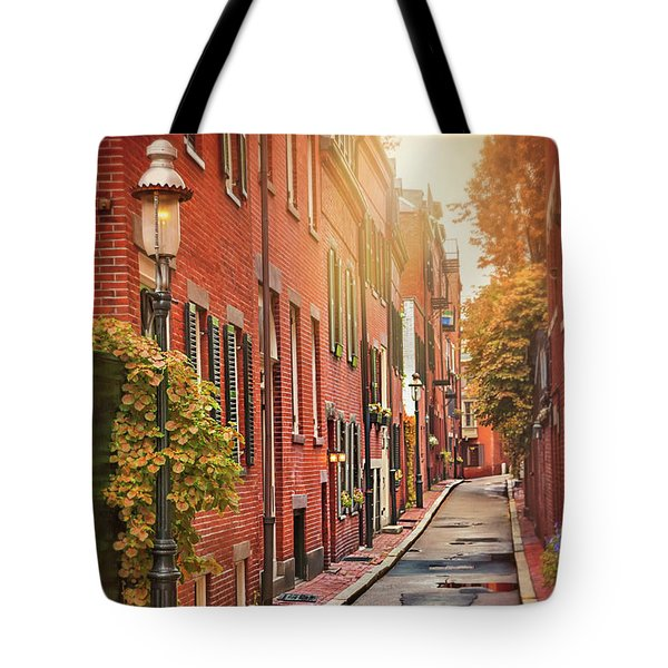 Tote Bag featuring the photograph Beacon Hill Area Of Boston  by Carol Japp