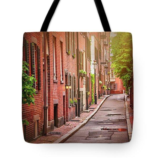 Beacon Hill Boston Tote Bag