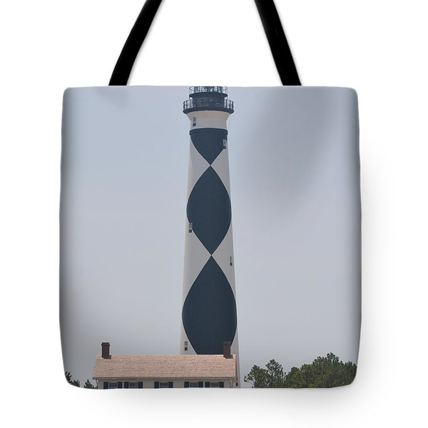 Beacon On Cape Lookout Tote Bag