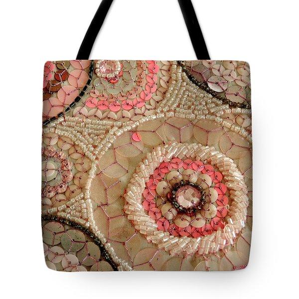 Beaded Design Tote Bag